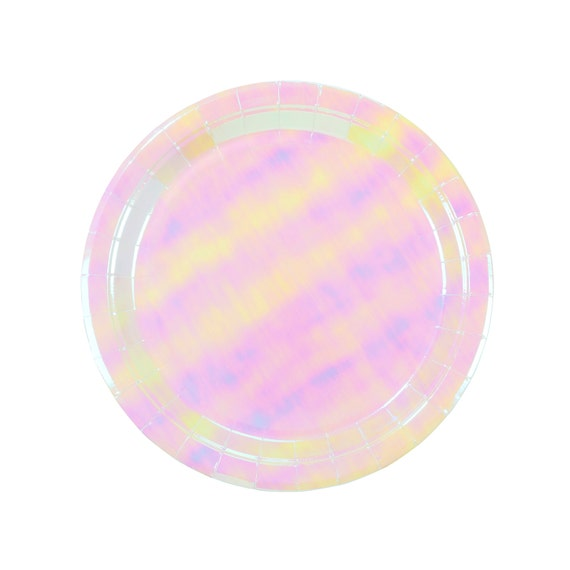 Plates   Pastel Iridescent Paper Plates 9\    Pink Plates   Party Plates   Premium Quality Paper Plates   Party Supplies   The Party Darling from ...  sc 1 st  Etsy Studio & Plates   Pastel Iridescent Paper Plates 9\