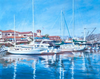 Print, 11 x 14, beach art, Ventura Harbor Village Print by Tina Obrien
