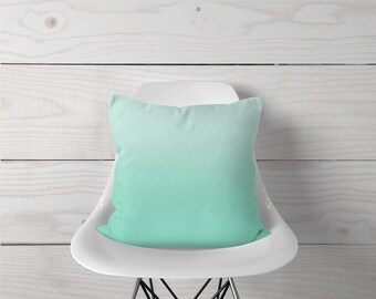 Mint Ombre - Pillow Cover