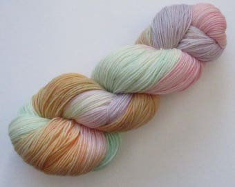 Merino and nylon sock yarn in love hearts colourway hand dyed knitting wool