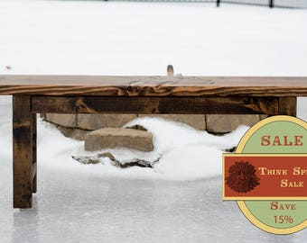 SPRING SALE 15% OFF!! Rustic Bench, Dining Bench, Farmhouse Bench, Wooden Bench, Entryway, Bench, Rustic Bench - Dark Walnut Stain