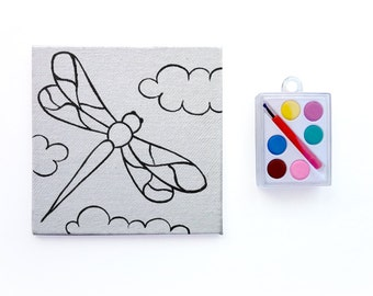 Dragonfly Canvas - Paint Party Set