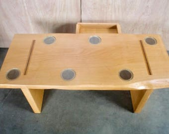 Six Cup Coffee Table with Drawer