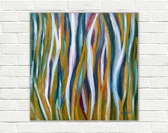 Abstract painting, abstract canvas art, original abstract acrylic painting on canvas, 50 x 50 cm, abstract art, modern art