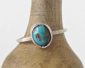 Turquoise Stacking Ring - size 7.5 - Stacker Ring - Turquoise Ring - Turquoise Jewelry