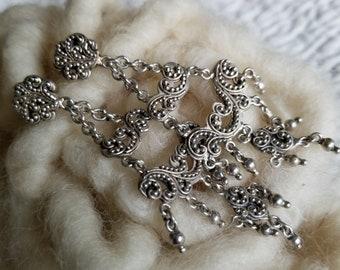 Sterling Silver Lois Hill Designer Chandelier Earrings (st - 1864)