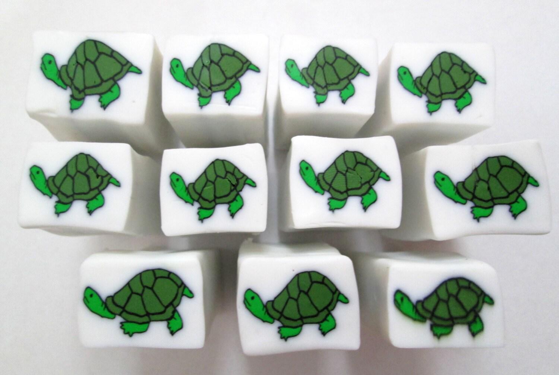 Bastón tortuga hecha a mano de la arcilla del polímero, arcilla ...