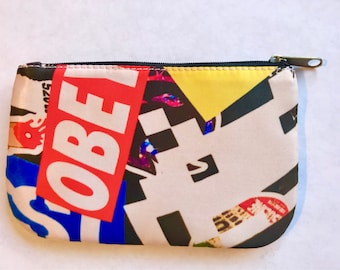 Accessory bag - obey, space invader sticker art
