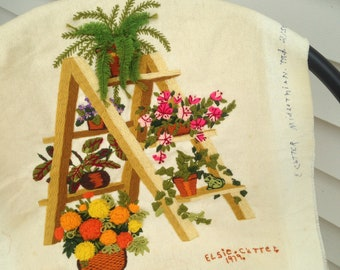 Vintage Needlepoint Embroidery Sampler from 1979 Ohio