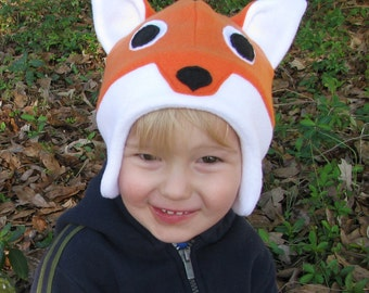 Fleece Fox Hat - Made to Order - Winter Woodland Animal Accessory