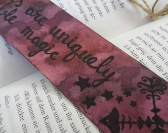"Watercolor Bookmarks ""Uniquely portable magic"""