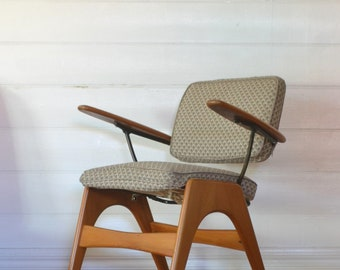 Fler Executive desk chair designed by Fred Lowen mid century