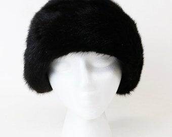 Vtg 1940s 1950s Women's Maison Blanche Mink? Fur Sable? Hat w/ Original Box