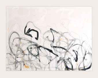 Abstract Neutral Original Artwork | Dance of the Lines