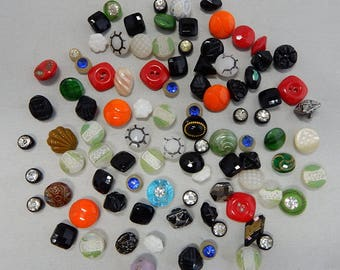 94 Vintage Glass Miniature Diminutive Buttons