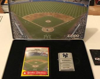 Zippo Stadium Limited Edition 1222/3000 New York Yankees NEW Tin Collectors