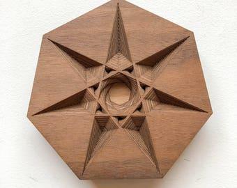 """Layered Wood: Wall Art (6"""" x 6"""")"""