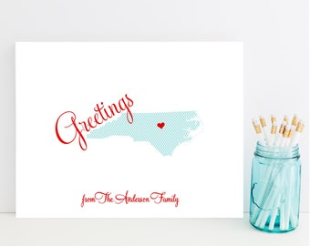 State Stationery - State Stationary - North Carolina Stationery - Choose Your State - UNC Stationery