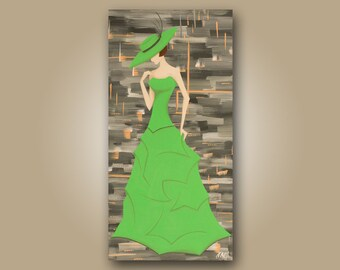 Tiffany (Acrylic on canvas) 12in x 24in original painting