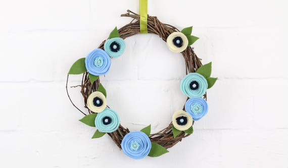Flower wreath Spring Wreath floral wreath for the door inside or outside floral design