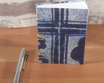 Notizbuch A7 blaues Kreuz // Geschenk // Adressen // Eintragungen // Notizen