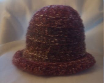 half price rolled brim hat in shades of brown