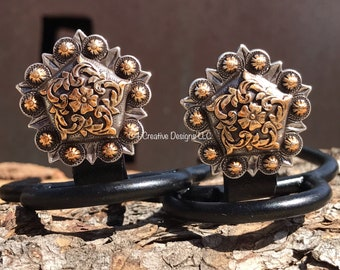 Western, Cowgirl, Horse, Floral, Design, Conchos, Boots, Jeans, #Cuff Keepers, silver and gold, Mothers Day, Birthdays, Anniversary gift