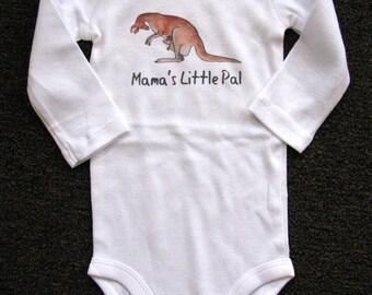 Cute baby bodysuit, Unique baby clothes, Kangaroo baby, Kangaroo care, Zoo animal, Animal baby clothes, Australia, Baby one piece