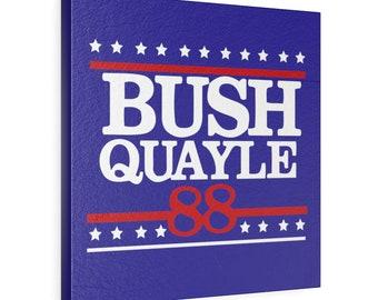 President George H W Bush Leather Gallery Wrap -  Republican Gifts - George Bush Wall Art