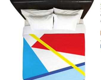 Minimalist Duvet Cover, Retro Duvet Cover, Abstract Art Duvet Cover,  Doona Cover, home decor, Scandinavian Decor, Modern Art,