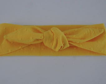 Baby yellow satin headband
