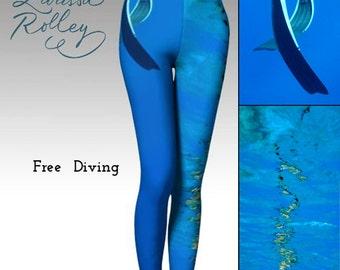 Free diving - Leggings - Digitally Printed Leggings