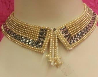 Vintage Pearl Encrusted Collar