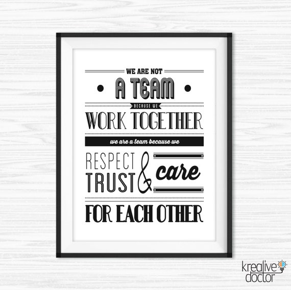 Inspirational Quotes Office Work: Teamwork Quotes Office Wall Art Success Quotes Printable