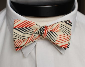 The Enzo - Our cotton bowie in orange and navy