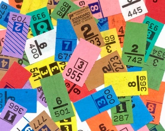 100 Vintage Dry Cleaning Tickets!  Collage, Arts and Crafts, Handmade Cards, Altered Art