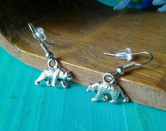 Grizzly Bear Earrings