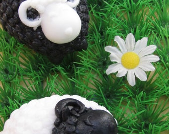 Sheep farm soap, glycerin soap , party favor, crazy sheep soap, 3D soap, charcoal, handcrafted melt and pour soap, funny soap, gift soap