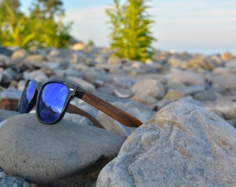 Zoni Wear Wooden Sunglasses. Personalized Sunglasses. Ebony Wood. Polarized Sunglasses. Mens Sunglasses. Womens Sunglasses