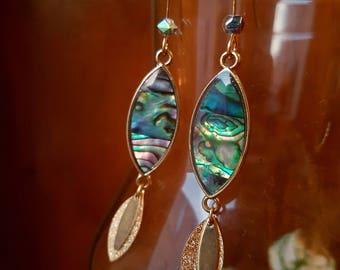 'Abalone goddess' earrings