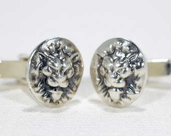 London lion silver cufflinks