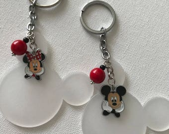 Minnie Mouse Inspired Charms Key Chain