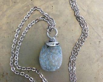 Rustic Blue Druzy Necklace