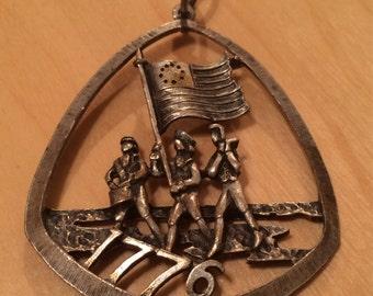 Esprit vintage de 1776 pendentif bicentenaire
