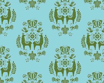 Medallion Aqua  - Juxta Posey - Betz White for Riley Blake Fabrics - You Select the Size