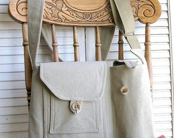Urban bag man, recycled serge, shoulder bag, #129