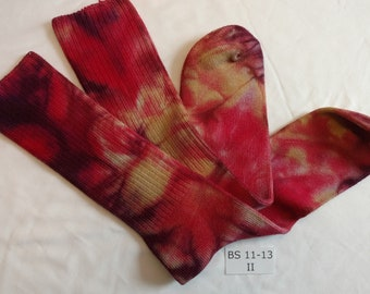 Hand Dyed Bamboo Socks size 11-13
