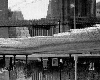 "Photo Canvas Art  Brooklyn Bridge/ Brooklyn, NY  16 x 20 Print onto 1 1/2"" Gallery Wrapped Canvas - Home Decor/ Interior Design"