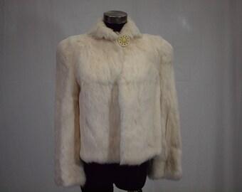 1940s ivory fur jacket