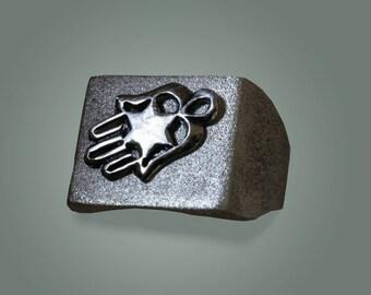 Hamsa signet ring, Mens silver signet ring,  Gold Hamsa ring,Ring for men,Ring for man.